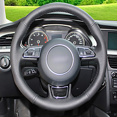 billige Rattovertrekk til bilen-Rattdeksler til bil (lær) til Audi A5 Strip-modell
