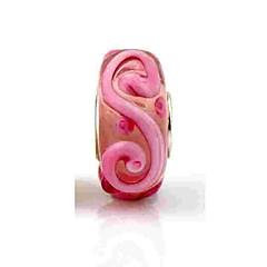 baratos Miçangas & Fabricação de Bijuterias-Jóias DIY 1 pçs Contas Vidro Liga Rosa cor de Rosa Bola Bead 0.2 cm faça você mesmo Colar Pulseiras