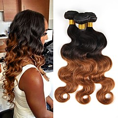preiswerte 3-Ton Haarverlängerungen-Brasilianisches Haar Bundles Unbehandeltes Haar Große Wellen Menschliches Haar Webarten 3 Stück Schlussverkauf