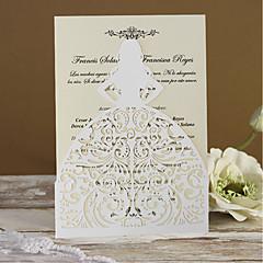 abordables Invitations de Mariage-Plis Fenêtre Invitations de mariage Cartes d'invitation Echantillons d'invitation Cartons d'Invitation Pour 'Baptême' Cartons