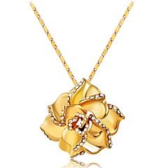 preiswerte Pendant Necklace-Damen Strass vergoldet Anhängerketten  -  Klassisch Sexy Gold Modische Halsketten Für Geschenk Alltag