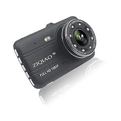 お買い得  車載DVR-ZIQIAO JL-17 HD 1280 x 720 Full HD 1920 x 1080 170度 車のDVR Jali AC5201A + 1024 + 4.0 inch screen + pull VGA 4 インチ IPS ダッシュカムforユニバーサル