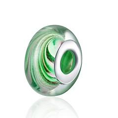 baratos Miçangas & Fabricação de Bijuterias-Jóias DIY 1 pçs Contas Vidro Prateado Verde Cor camuflagem Bola Bead 1.5 cm faça você mesmo Colar Pulseiras