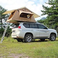 billige Telt og ly-Deerke 3-4 personer Dobbelt camping Tent To Rom Familietelt Vindtett Regn-sikker varmelagrende til Camping / Vandring / Grotte