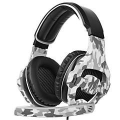 billiga Headsets och hörlurar-SADES SA-810 Headband Kabel Hörlurar Dynamisk Plast Spel Hörlur mikrofon headset