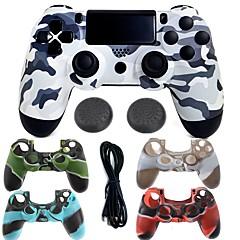 baratos Acessórios para PS4-Sem fio bluetooth controlador de jogo caso protetor / controlador de jogo para ps4, jogo lidar com controlador de jogo caso protetor / controlador de jogo de silicone / abs 1 pcs unidade