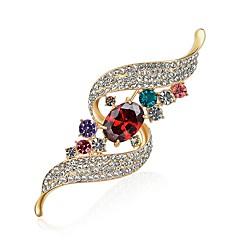 billige Motebrosjer-Dame Diamant / Kubisk Zirkonium Nåler - Zirkonium, Fuskediamant Designet i Kina, Oljemaling Brosje Regnbue Til Fest / Karneval