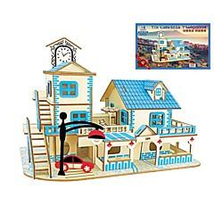 billige -Puslespill i tre Puslespill og logikkleker Arkitektur Mote Klassisk Mote Nytt Design profesjonelt nivå Focus Toy Stress og angst relief