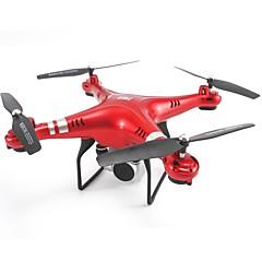 billige Fjernstyrte quadcoptere og multirotorer-RC Drone SHR / C SH5H 4 Kanaler 6 Akse 2.4G Med HD-kamera 200W Fjernstyrt quadkopter Auto-Takeoff / Hodeløs Modus / Tilgang Real-Tid