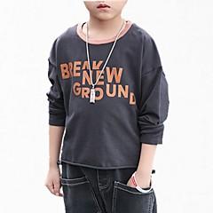billige Hættetrøjer og sweatshirts til drenge-Børn Drenge Simple Blomstret / Galakse Normal Bomuld Hættetrøje og sweatshirt Hvid 140