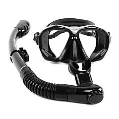 billiga Dykmasker, snorklar och simfötter-WHALE Snorklingspaket / Dykning Paket - Dykmaske, Snorkel - Anti-Dimma, Torrdräkt – överdel Simmning, Dykning Silikon, Glas, Gummi  För