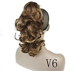 cheap Wigs & Hair Pieces-Clip In/On Wig Accessories African Braids Synthetic Hair Hair Piece Hair Extension Straight 14 inch Dailywear