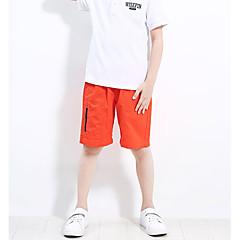 billige Drengebukser-Børn Drenge Ensfarvet Shorts Orange 150