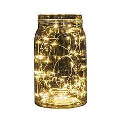 billiga Dekorativ belysning-2m stränglampor 20 leds multi color party / holiday / christmas bröllop dekoration batteri