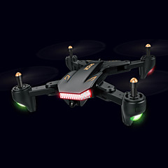 cheap RC Quadcopters & Multi-Rotors-RC Drone XS809S 4ch 6 Axis 2.4G With HD Camera 0.3MP/2.0MP 480P/720P RC Quadcopter One Key To Auto-Return / Headless Mode / 360°Rolling