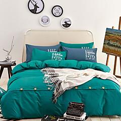 billiga Påslakan-Påslakan Sets Enfärgad Polyester / Bomull Blandning Färgat garn 3 delarBedding Sets