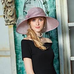 お買い得  パーティーハット-フラックス 羽毛 リボン  -  魅力的な人 帽子 1個 結婚式 パーティー/フォーマル かぶと