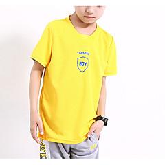 billige Overdele til drenge-Børn Drenge Aktiv Sport Geometrisk Kortærmet Polyester T-shirt Blå 150