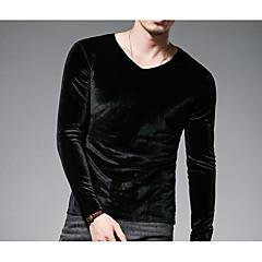 Herrn Solide T-shirt, Rundhalsausschnitt