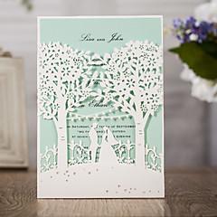 お買い得  ウェディング招待状-ラップ式 結婚式の招待状 招待状カード クラシック エンボス紙 エンボス加工