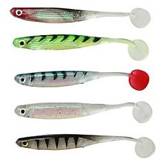 billiga Fiskbeten och flugor-6pcs st Mjukt bete pvc Sjöfiske Kastfiske Spinnfiske Jiggfiske Färskvatten Fiske Generellt fiske Drag-fiske Abborr-fiske Karpfiske