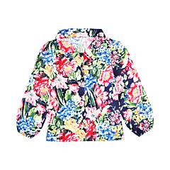 baratos Roupas de Meninas-Unisexo Terno & Blazer Diário Feriado Floral Primavera Outono Algodão Poliéster Manga Longa Casual Arco-íris