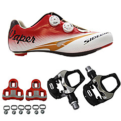 cheap Cycling Shoes-SIDEBIKE Bike Cycling Shoes With Pedals & Cleats Road Shoes Adults' Cushioning Road Bike Outdoor Breathable Mesh PU EVA Cycling / Bike