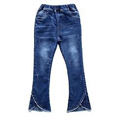billige Bukser og leggings til piger-Børn Pige Basale Ferie Ensfarvet Uden ærmer Bomuld Jeans