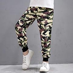 billige Bukser og leggings til piger-Baby Unisex Aktiv Daglig Trykt mønster Trykt mønster Polyester Bukser Blå 130