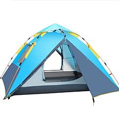 billige Telt og ly-Shamocamel® 4 personer Telt Dobbelt Lagdelt camping Tent Utendørs Automatisk Telt Regn-sikker / Vindtett til Fisking / Picnic 2000-3000mm