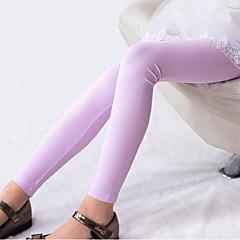 billige Bukser og leggings til piger-Børn Pige Simple Ensfarvet Langærmet Bukser