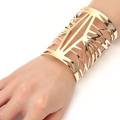 cheap Bracelets-Women's Cool Oversized Cuff Bracelet - Oversized Fashion Geometric Gold Silver Bracelet For Ceremony Evening Party