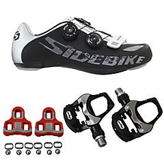billige Sykkelsko-SIDEBIKE Voksne Sykkelsko med pedal og tåjern / Veisykkelsko Demping, Ultra Lett (UL) Sykling Herre