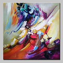 tanie Sztuka ścienna-Hang-Malowane obraz olejny Ręcznie malowane - Abstrakcja Nowoczesny Naciągnięte płótka / Rozciągnięte płótno