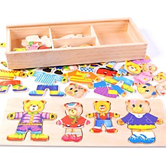 preiswerte -Holzpuzzle Bär Tier lieblich Geometrische Muster Holz / Bambus 1pcs Zeichentrick Kinder Teen Alles Geschenk