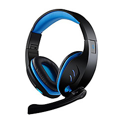 cheap PC Game Accessories-SY968 Wired Headphones For PC Headphones PU Leather 1pcs unit 230cm USB 2.0
