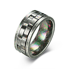 cheap Men's Rings-Men's Band Ring - Stainless Fashion Jewelry Gray For Street Work 7 / 8 / 9 / 10 / 11