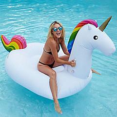 hesapli Şişme Botlar ve Havuz Şezlongları-Unicorn Şişme Havuz Şamandıraları Donut Havuz Şamandıraları Dış Mekan PVC / winyl 1pcs Çocuklar için Yetişkin Hepsi