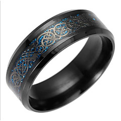 cheap Rings-Men's Dragon Statement Ring / Band Ring - European Gold / Black / Blue Ring For Daily