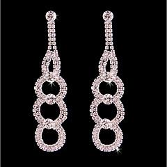 cheap -Women's Tassel / Long Stud Earrings / Hoop Earrings - Silver Plated Floral / Botanicals, Flower Bohemian, Fashion, Boho Silver For Wedding / Birthday