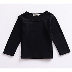 tanie Odzież dla dziewczynek-Brzdąc Unisex Codzienny / Święto Solidne kolory Długi rękaw Regularny Bawełna Bluzka Szary / Śłodkie