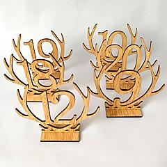 ieftine Recepția de Nuntă-De lemn Tabelul Center Pieces - Nepersonalizat Suporturi carduri loc Terminaţii 20pcs Toate Sezoanele