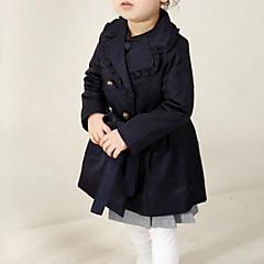 billige Jakker og frakker til piger-piger daglige solidfarvede trench coat, bomuld forår falder lange ærmer street chic
