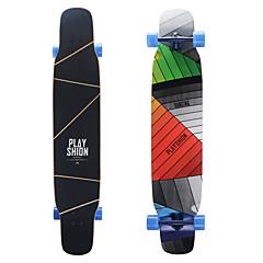 Χαμηλού Κόστους Σκέιτμπορντ-124 * 25cm Πλήρης Skateboard / Μακριές σανίδες Σφενδάμι Υπαίθρια Αθλήματα Ανθεκτικό Κίτρινο / Ροζ / Ουράνιο Τόξο