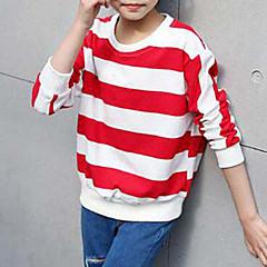billige Hættetrøjer og sweatshirts til piger-Børn Pige Simple Stribet Bomuld T-shirt