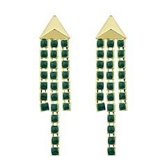 Drop Earrings - Fashion Green For Gift Date