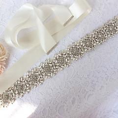Χαμηλού Κόστους Κορδέλες για πάρτι-Σατέν / Τούλι Γάμου / Ειδική Περίσταση Ζώνη Με Κρύσταλλοι / Στρας Γυναικεία Ζώνες για Φορέματα
