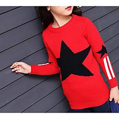 tanie Odzież dla dziewczynek-Dzieci Dla dziewczynek Geometryczny Długi rękaw Bawełna Bluzka