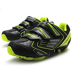 billige Sykkelsko-Tiebao® Mountain Bike-sko Karbonfiber Anti-Skli, Anvendelig, Pusteevne Sykling Svart / Gul Herre