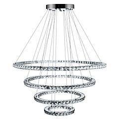 billiga Dekorativ belysning-Cirkelrunda Ljuskronor Glödande Elektropläterad Metall Kristall, Bimbar, LED 110-120V / 220-240V Dimbar med fjärrkontroll LED-ljuskälla ingår / Integrerad LED